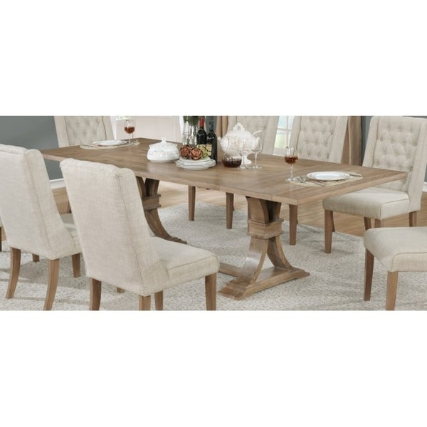 0fefa8d5be Shop Best Quality Furniture Rustic Wood Extension Dining Table - Free  Shipping Today - Overstock - 17976041