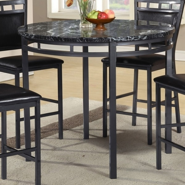 ffd87672880fc9 Shop Best Quality Furniture Round Counter Height Faux Marble Dining Table - Free  Shipping Today - Overstock - 17976048