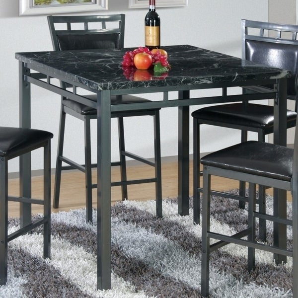 Quality Kitchen Tables: Shop Best Quality Furniture Faux Marble Counter Height