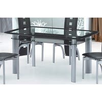 Best Quality Furniture Modern Rectangular Glass Table Top Dining Table