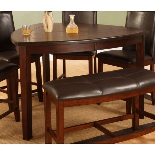 Best Quality Dining Room Furniture: Shop Best Quality Furniture Dark Cherry Counter Height