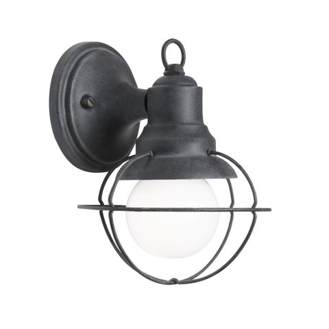 Aztec Lighting Transitional 1-light Weathered Zinc Outdoor Wall Sconce
