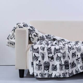 Brooklyn Industries Eco-Friendly Recycled Polyester Cattitude Throw