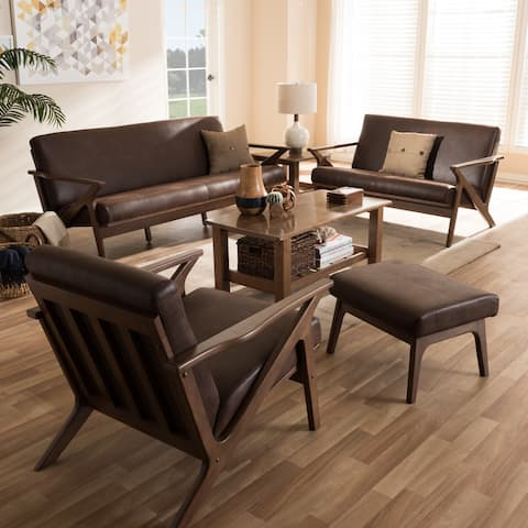 Mid-Century 4-Piece Living Room Set by Baxton Studio