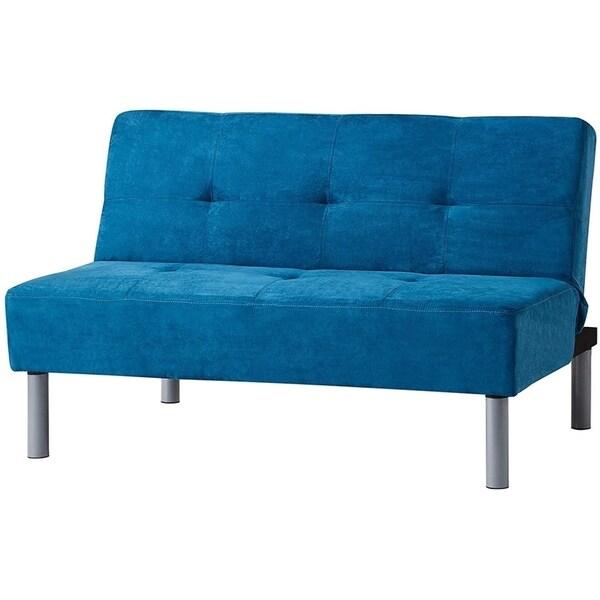 Shop Mini-Futon - Teal Blue - On Sale - Overstock - 17976152