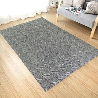 Handmade Flat Weave Charcoal Wool Area Rug Carpet (9' x 12')