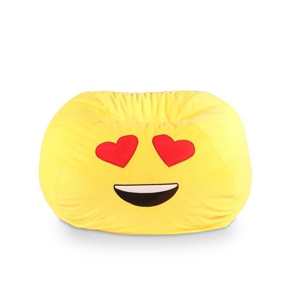 Surprising Gomoji Emoji Bean Bag Heart Eyes Forskolin Free Trial Chair Design Images Forskolin Free Trialorg