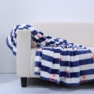 Berkshire Blanket Nautical Stripe VelvetLoft Throw