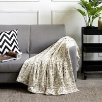 Cheer Collection Ultra Cozy Animal Prin t Faux Fur Reversible Throw Blanket