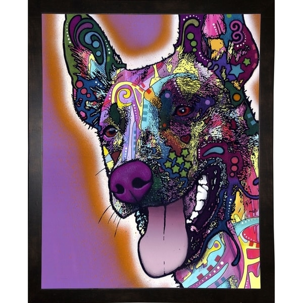 "Malinois Framed Print 19.5""x15.5"" by Dean Russo"