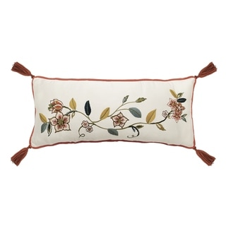 Waverly Brighton Blossom Embroidered Pillow