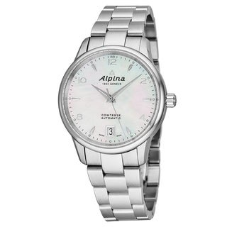 Alpina Women's AL-525APW3C6B 'Comtesse' Mother of Pearl Dial Stainless Steel Swiss Automatic Watch