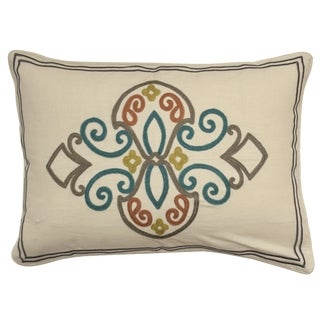 Waverly Boho Passage Embroidered Pillow