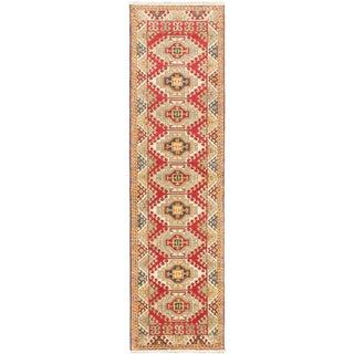 eCarpetGallery Hand-Knotted Royal Kazak Red Wool Rug (2'10 x 10'4)