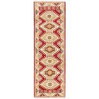 eCarpetGallery Hand-Knotted Royal Kazak Red  Wool Rug (2'9 x 8'5)