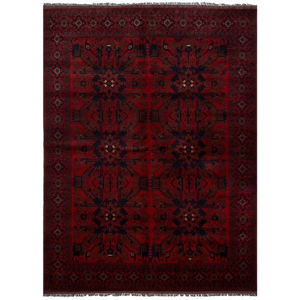 eCarpetGallery Hand-Knotted Finest Khal Mohammadi Red Wool Rug (6'7 x 9'7)