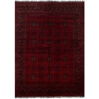 eCarpetGallery Hand-Knotted Finest Khal Mohammadi Red Wool Rug (6'6 x 9'8)
