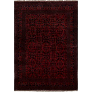 eCarpetGallery Hand-Knotted Finest Khal Mohammadi Red Wool Rug (6'6 x 9'9)