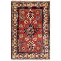 eCarpetGallery Hand-Knotted Finest Gazni Brown  Wool Rug (3'2 x 4'9)