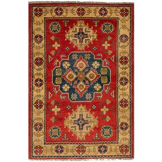 eCarpetGallery Hand-Knotted Finest Gazni Brown  Wool Rug (3'3 x 5'0)