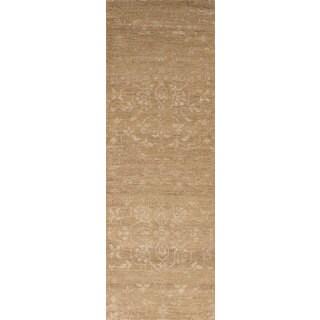 eCarpetGallery Hand-Knotted La Seda Brown  Wool,  Art Silk Rug (2'6 x 7'11)