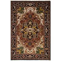 eCarpetGallery Hand-Knotted Royal Heriz Brown  Wool Rug (5'2 x 7'11)