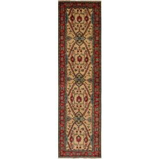 eCarpetGallery Hand-Knotted Finest Gazni Ivory  Wool Rug (2'7 x 10'0)