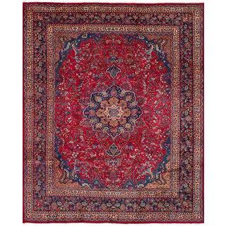 eCarpetGallery Hand-Knotted Sabzevar Red  Wool Rug (9'9 x 12'6)