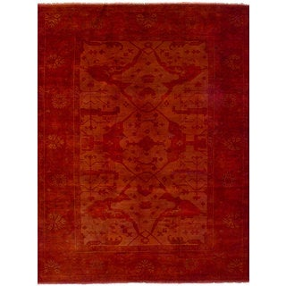 eCarpetGallery Hand-Knotted Color transition Brown  Wool Rug (8'9 x 11'9)