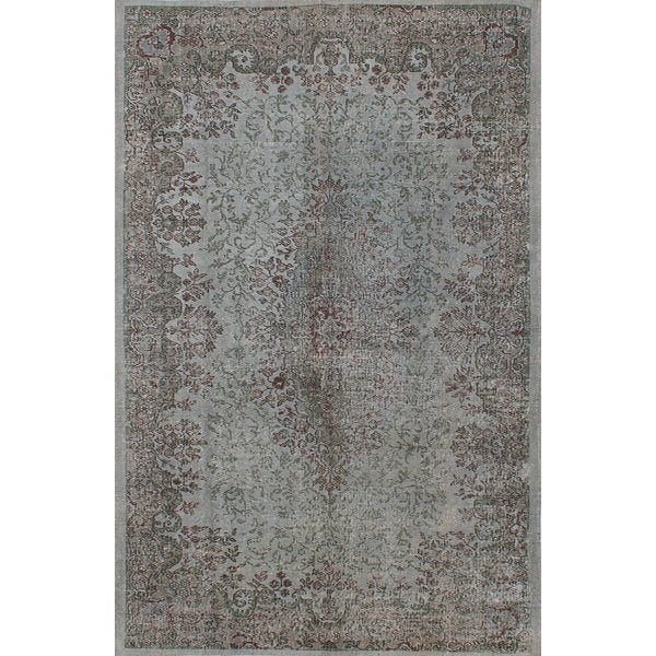 eCarpetGallery Hand-Knotted Color Transition Grey Wool Rug (6'1 x 9'6)