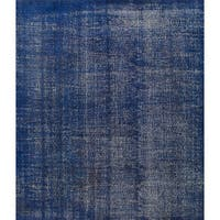 eCarpetGallery Hand-Knotted Color Transition Blue  Wool Rug (7'0 x 8'0)