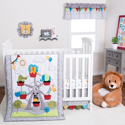 Trend Lab Jungle Ferris Wheel 3 Piece Crib Bedding Set