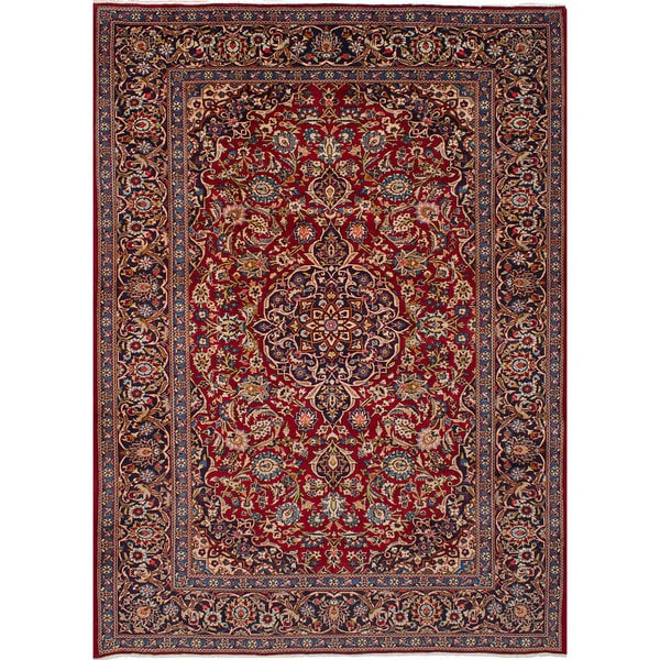Shop Ecarpetgallery Hand Knotted Persian Kashan Red Wool: Shop ECarpetGallery Hand-Knotted Kashan Red Wool Rug (8'3