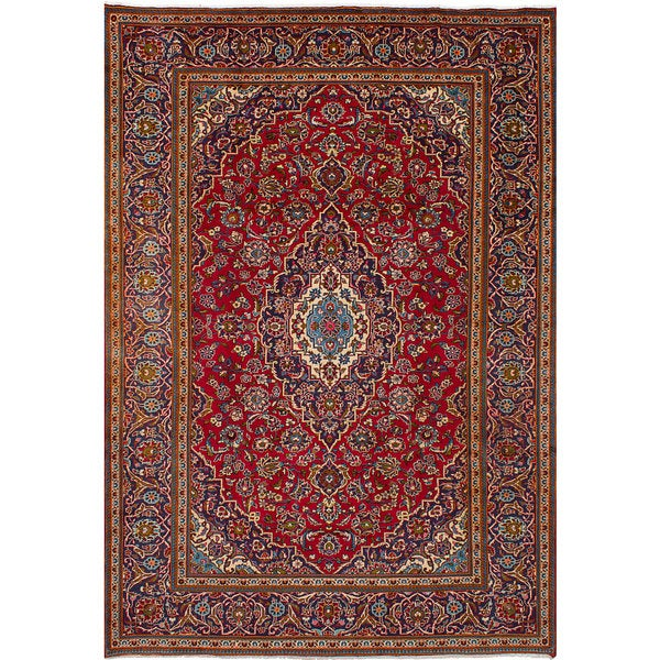 Shop Ecarpetgallery Hand Knotted Persian Kashan Red Wool: Shop ECarpetGallery Hand-Knotted Kashan Red Wool Rug (7'10