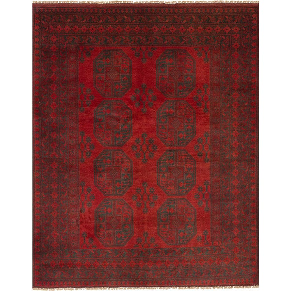 eCarpetGallery Hand-Knotted Khal Mohammadi Red Wool Rug (5'0 x 6'4)