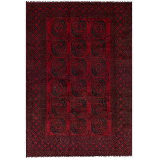 eCarpetGallery Hand-Knotted Khal Mohammadi Red Wool Rug (6'5 x 9'5)