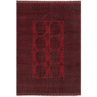 eCarpetGallery Hand-Knotted Khal Mohammadi Red  Wool Rug (5'4 x 7'10)