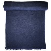 Navy Cashmere Throw in Herringbone Weave