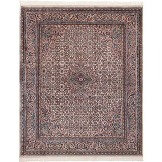 eCarpetGallery Hand-Knotted Bijar Ivory  Wool Rug (6'6 x 8'4)