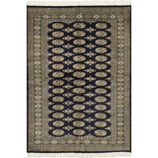 eCarpetGallery Hand-Knotted Finest Peshawar Bokhara Blue Wool Rug (4'0 x 5'10)