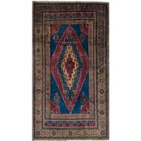 eCarpetGallery Hand-Knotted Anatolian Vintage Blue, Red  Wool Rug (5'4 x 9'11)