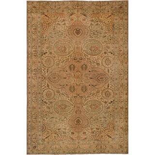 eCarpetGallery Hand-Knotted Keisari Vintage Brown, Ivory Wool Rug (8'0 x 12'0)