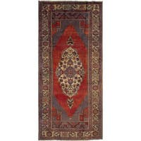 eCarpetGallery Hand-Knotted Anatolian Vintage Red  Wool Rug (5'5 x 12'0)