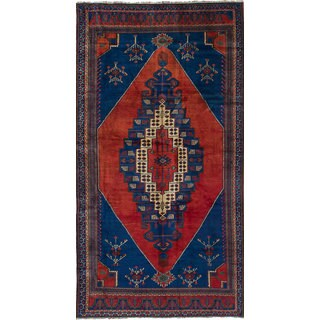 eCarpetGallery Hand-Knotted Anatolian Vintage Blue, Red Wool Rug (5'0 x 9'11)
