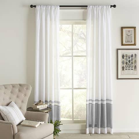 Cottage Home Wren Linen Single Curtain Panel