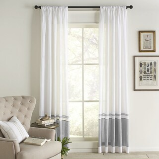 Cottage Home Wren Linen Curtain Panel