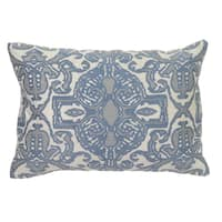 Pearle Blue Velvet 14-inch x 20-inch Rectangular Throw Pillow