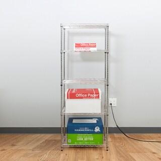 Mind Reader 'Store' 4 Shelf Metal Shelving Unit, Chrome