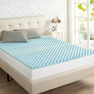 "Priage 1.5"" Swirl Gel Memory Foam Mattress Topper"