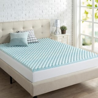 "Priage 2"" Swirl Gel Memory Foam Mattress Topper"